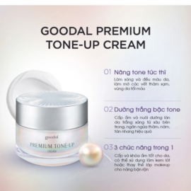 Kem Ốc Sên Dưỡng Trắng Da Goodal Premium Tone-Up Cream 30mL
