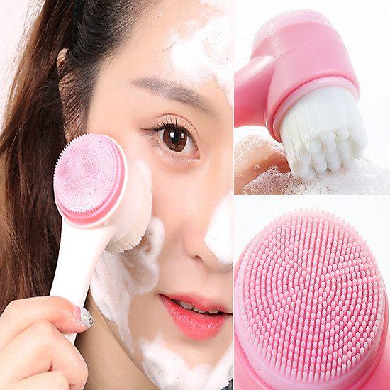 Cọ Rửa Mặt Cầm Tay 2 Đầu - Skin365 Mỹ phẩm chính hãng