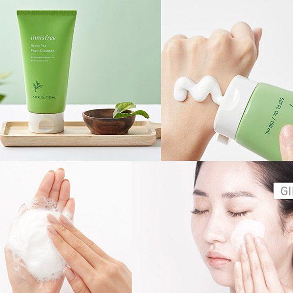 Sữa Rửa Mặt Trà Xanh Innisfree Green Tea Cleansing Foam 80ml. - Skin365 Mỹ phẩm chính hãng