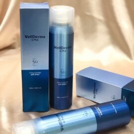 Xịt Chống Nắng WellDerma G Plus Cooling Sun Spray SPF50+ PA+++ 180mL