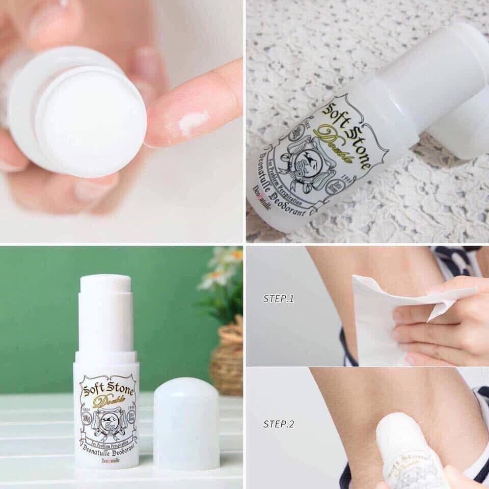 Lăn Khử Mùi Deonatulle Soft Stone Double 20g - Skin365 Mỹ phẩm chính hãng