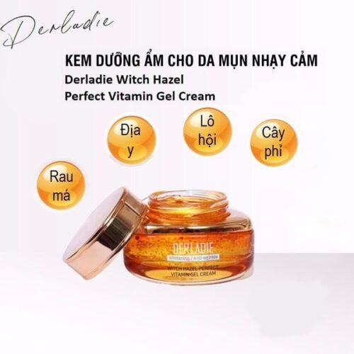 Gel Dưỡng Ẩm Cho Da Mụn Derladie Witch Hazel Perfect Vitamin 55mL