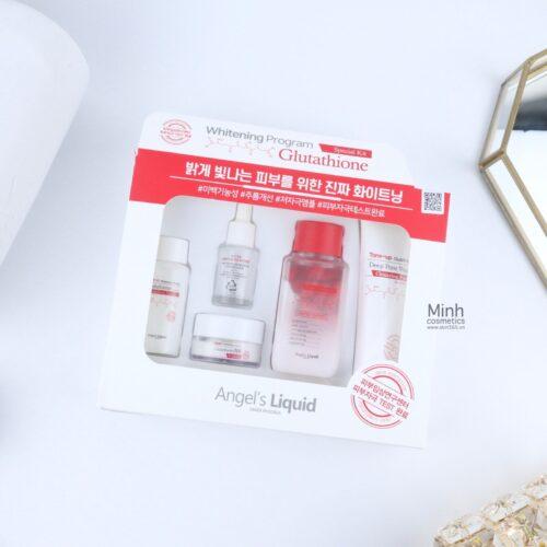 Set Dưỡng Trắng Da Angel's Liquid Whitening Program Glutathione 5 Món