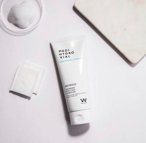 Sữa Rửa Mặt WonJin Effect Hydro Vial Cleansing Foam 80mL